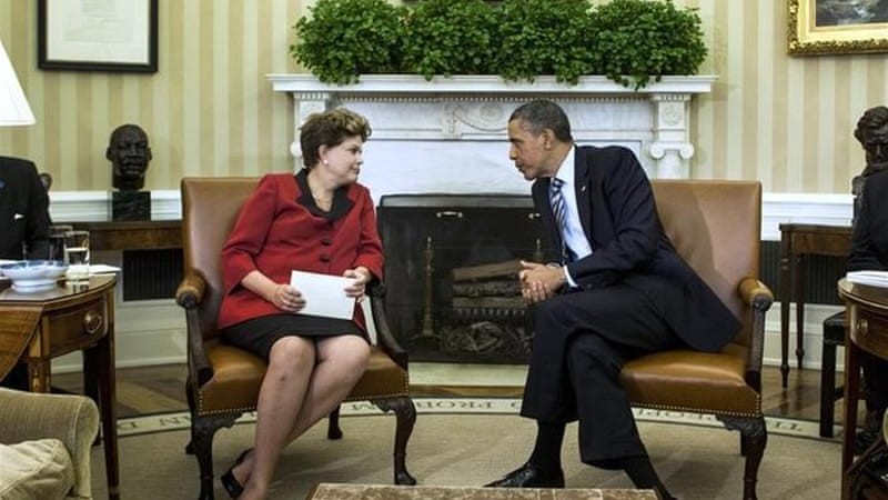 Some Brazilian commentators speculate Obama has intentionally snubbed Dilma Rousseff [AFP]