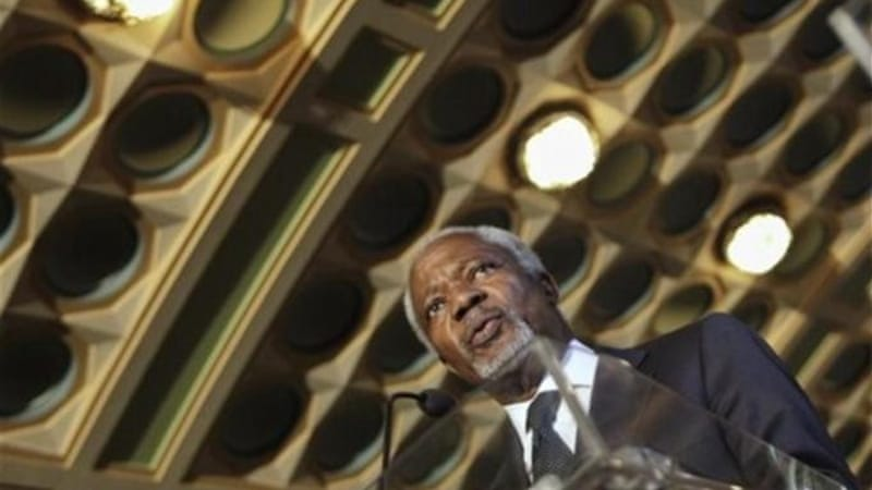 Western forces appear to be undermining Kofi Annan's potential to end the conflict in Syria [AP]