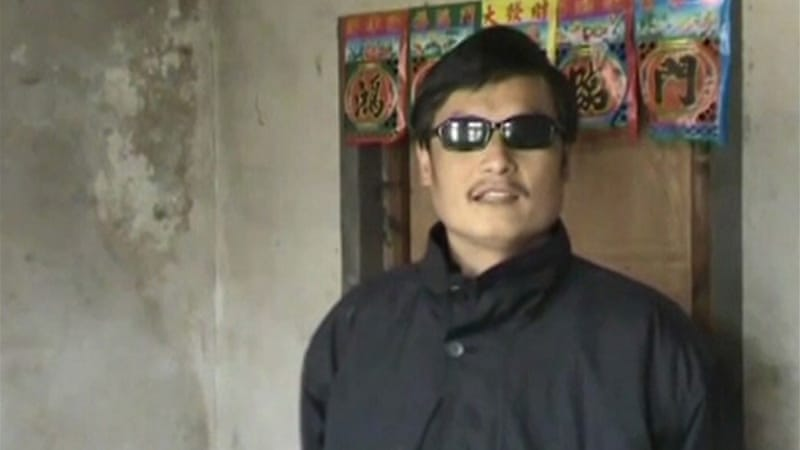Blind legal activist Chen Guangcheng had been restricted to his home since September 2010 [Reuters]