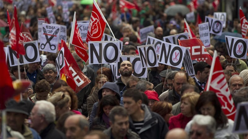 Unpopular austerity measures have often been met with mass demonstrations in Europe [Reuters]