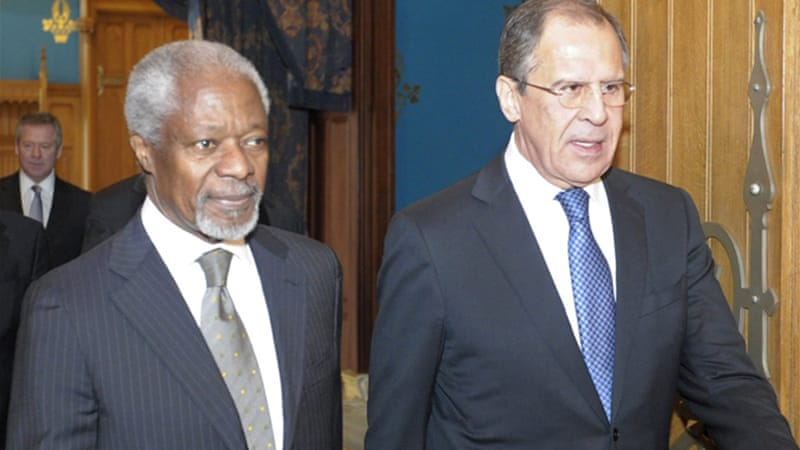 "Russian FM, right, has warned that even if ""armed to the teeth,"" the opposition would not topple Assad's army [Reuters]"