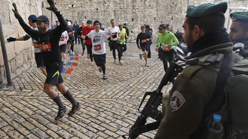 The Arab Youth and Sport Council said they will organise a separate marathon entitled 'Jerusalem is Ours' [EPA]