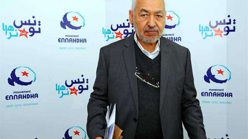 Rachid Ghannouchi, founder of Islamic party Ennahda, faced torture under the secularist administration of then President Bourguiba [AP]