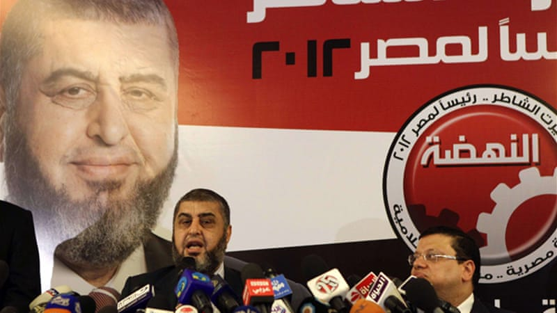 Ghaffour said he told Muslim Brotherhood candidate Shater that Salafists were not committed to backing him [AFP]