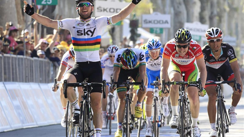 After the Tour De France, Cavendish (L) will set his sights on the Olympics [Reuters]