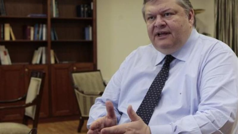 Socialist leader Evangelos Venizelos could build a coalition with the Democratic Left [REUTERS]