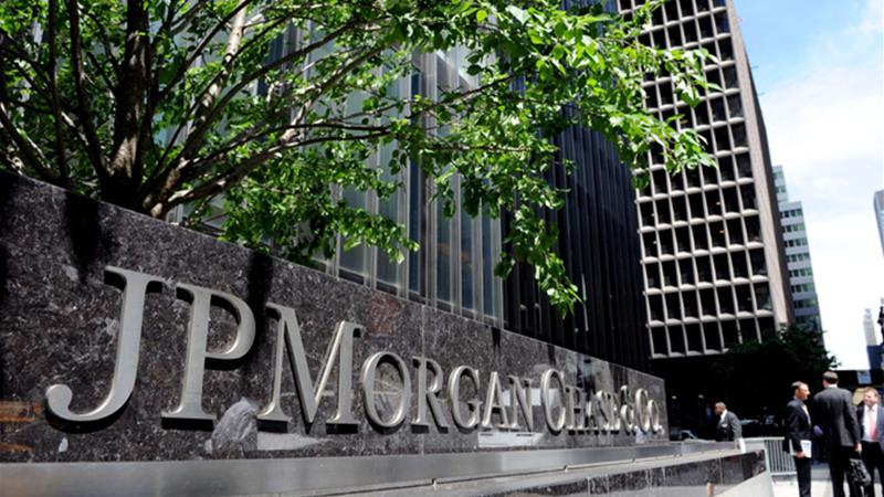JP Morgan is the largest US bank by assets and paid $20bn in fines last year [AFP]