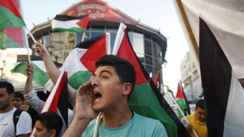 Protests have been staged in Palestinian territories in support of prisoners on hunger strike in Israel [Reuters]