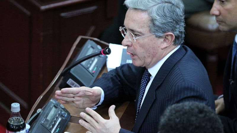 Under President Alvaro Uribe, the Colombian government targeted political opponents and human rights activists [EPA]