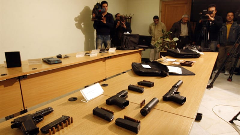 Iran displayed the espionage devices confiscated after the killing of nuclear scientist Massoud Ali-Mohammadi [AFP]