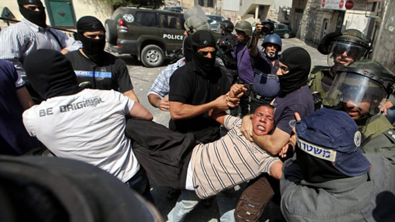 Several dozen Palestinians were injured in clashes with Israeli security forces as they commemorated Nakba Day [EPA]