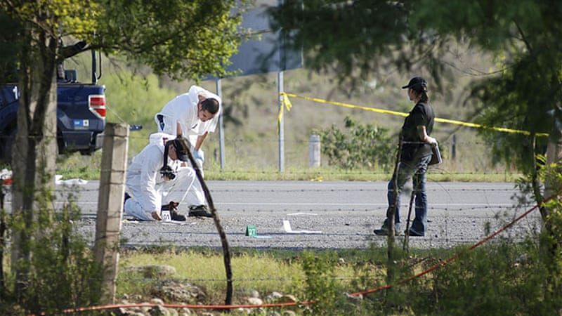 Forensic experts have struggled to establish the identity of the 49 corpses found dumped in Monterrey city [Reuters]