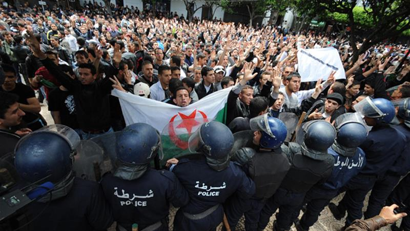 The two films aired in France were about Algeria's protest movement which last year forced the departure of longtime President Abdelaziz Bouteflika [File: EPA]