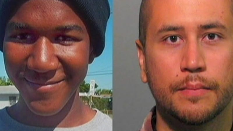Zimmerman, right, says he opened fire on Martin, left, in self-defence [Al Jazeera]