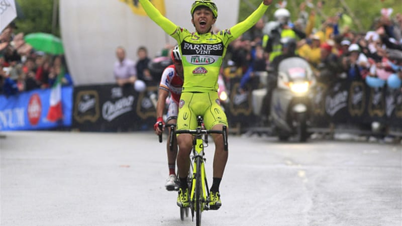 On a day of retirements, Rabottini  overcomes a fall on the descent to win 15th stage [AFP]