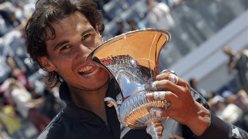 The taste of victory: Nadal wraps up his sixth Rome Masters title [EPA]