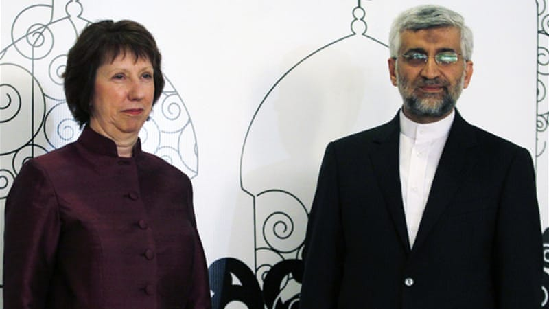 The delegation from P5+1 is headed by EU's Catherine Ashton while Saeed Jalili leads Iranian delegates [Reuters]
