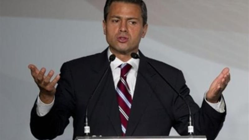 Latest opinion polls put presidential candidate Enrique Pena Nieto in lead with 46 per cent [AFP]