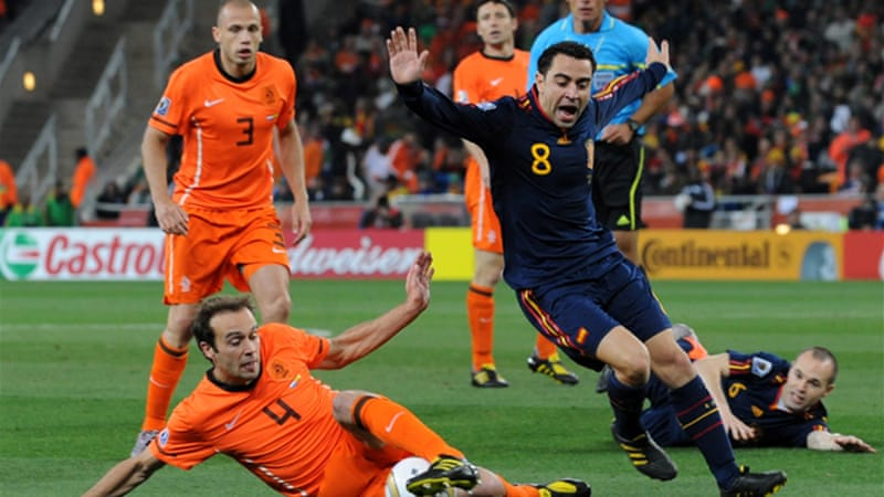 The Netherlands, still hurting from their World Cup 2010 finals loss to Spain, will provide strong opposition but must first get out of their pool of death - which contains Germany, Portugal and Denmark [EPA]