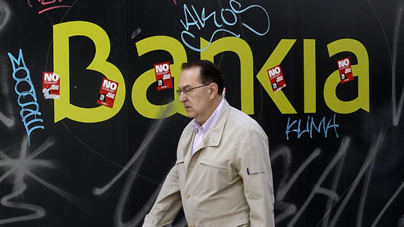 The government has partially nationalised Bankia, which holds about 10 per cent of Spain's bank deposits [Reuters]