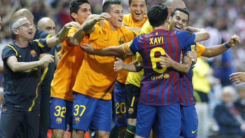 Three goals in the opening half hour was enough for Barcelona to take another Spanish Cup [EPA]