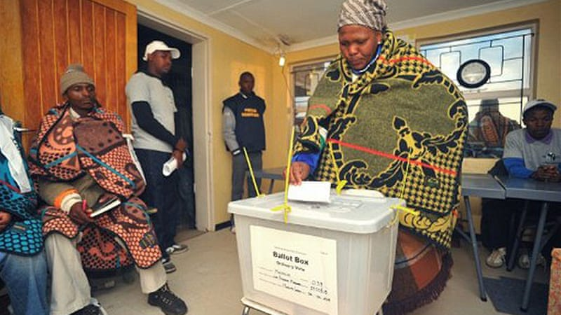 The elections in Lesotho were billed as the closest since independence in 1966 [AFP]