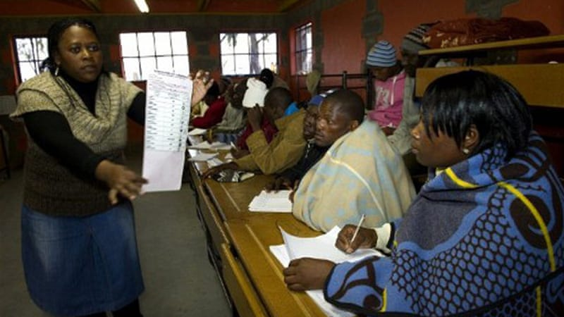 The people of Lesotho went to the polls to elect a new national assembly on May 26  [AFP]