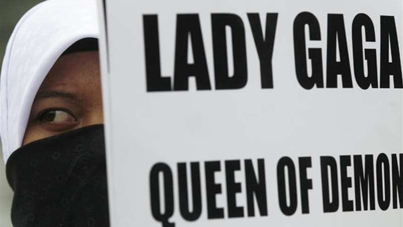 Islamic groups in Jakarta had expressed their opposition to Lady Gaga's concert, demanding it be stopped [Reuters]