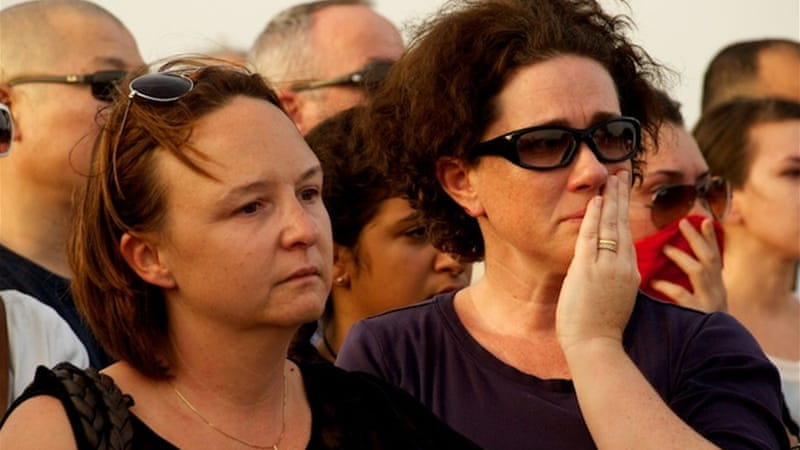 Hundreds of people attended the vigil; many said they knew the victims or their families. [Gregg Carlstrom/Al Jazeera]
