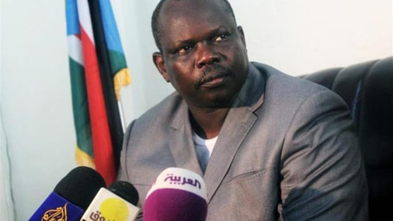 Amum, South Sudan's chief negotiator, accused Sudan of carrying out air raids amid the peace talks [AFP]