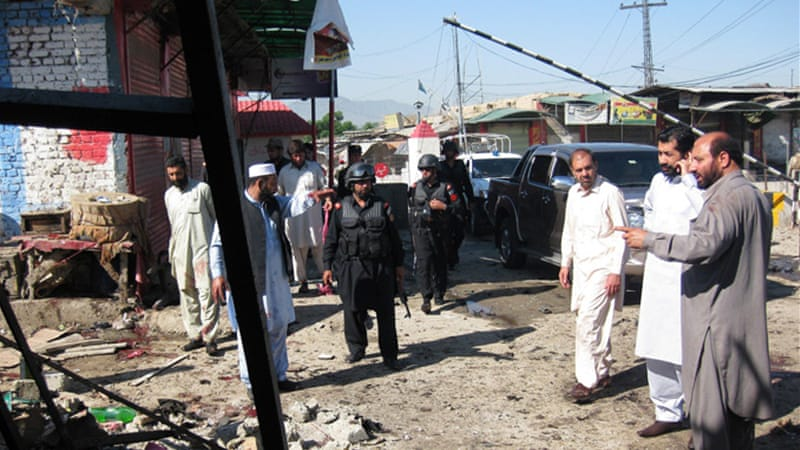 The Pakistani Taliban claimed responsibility for the blast, which wounded at least 40 people [AFP]