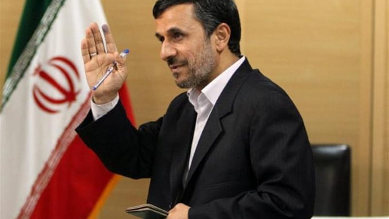 Ahmadinejad's power has been weakened as conservative opponents backing Ayatollah Ali Khamenei increase [EPA]