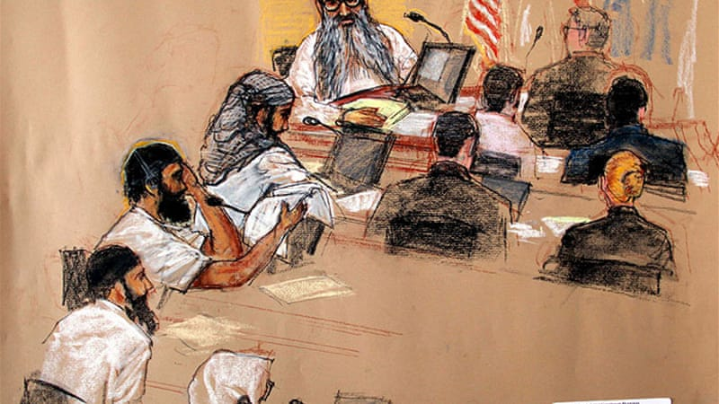 The trial of Khalid Sheikh Momammed began Saturday before a military commission at Guantanamo Bay, Cuba [EPA]