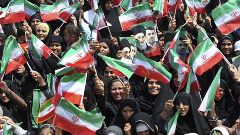 Ahmadinejad's visit to Abu Musa was well received in Iran, boosting his domestic popularity ahead of nuclear talks [AP]