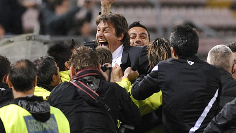 Forty-two-year-old Antonio Conte guided the Turin side to their 28th title with victory over Cagliari on Sunday night [REUTERS]