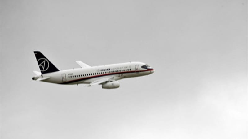 The brand new Russian-made Sukhoi Superjet 100 made a test flight on Wednesday morning [File/Al Jazeera]