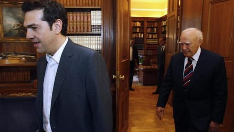 Coalition of the Radical Left leader Alexis Tsipras (left) saw his party's vote triple from the 2009 elections [EPA]