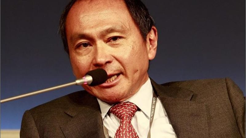 In his article for Foreign Affairs, Francis Fukuyama writes that the libertarian right has 'held the ideological high ground on economic issues' for a generation and that the absence of a 'counter-narrative' is worrying [EPA]