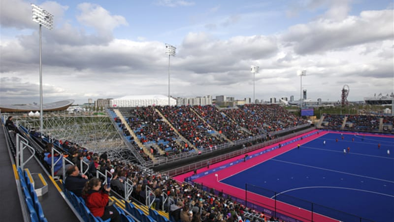 Riverbank Arena, above, is one of the developments in Olympic Park and will host the hockey events during the Games [EPA]
