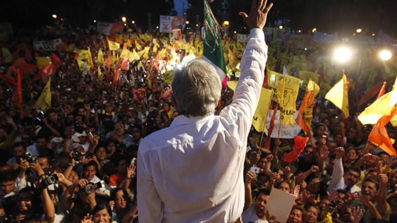 Andres Manuel Lopez Obrador, representing a coalition of leftist parties, nearly won the presidency in 2006 [Reuters]