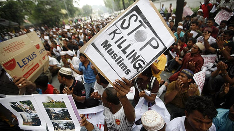 Clashes between Buddhists and Muslim Rohingyas, which erupted in June, has left at least 78 people dead [Reuters]