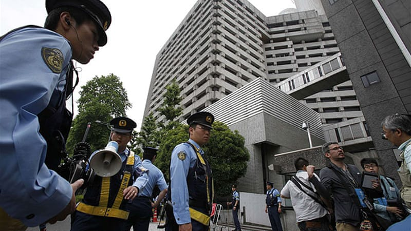 Police descended on a comic book cafe in southern Tokyo on Friday morning after being tipped off [Reuters]