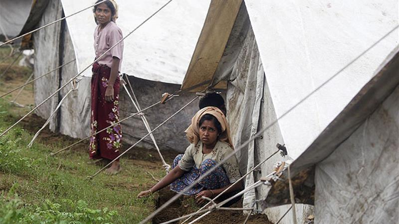 Nearly 32,000 people from both the communities are being housed in camps across Rakhine state [Reuters]