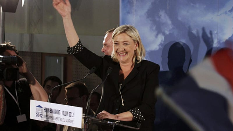 Marine Le Pen, France's National Front head is predicted to win several seats in the parliamentary elections [Reuters]