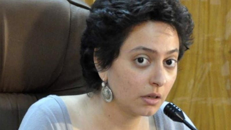 Razan Ghazzawi was reportedly imprisoned for her work as a free media activist [Reuters]