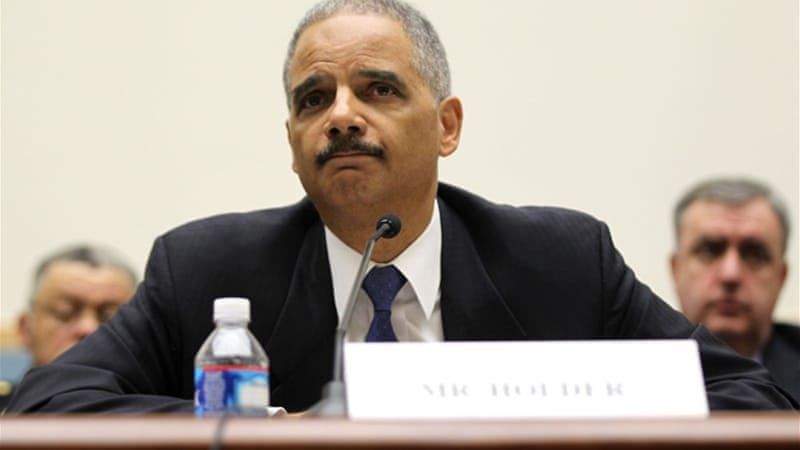 As the White House asserts executive privilege, Holder could be charged with contempt [GALLO/GETTY]
