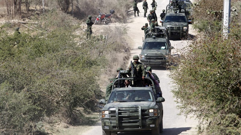 Mexico's military has been playing an active role in the country's war on drugs [EPA]