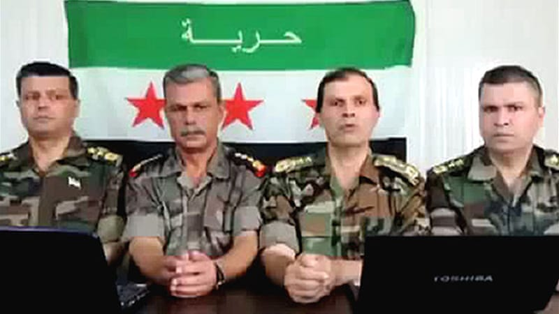 The Syrian Observatory for Human Rights said four senior army officers had defected [AFP]