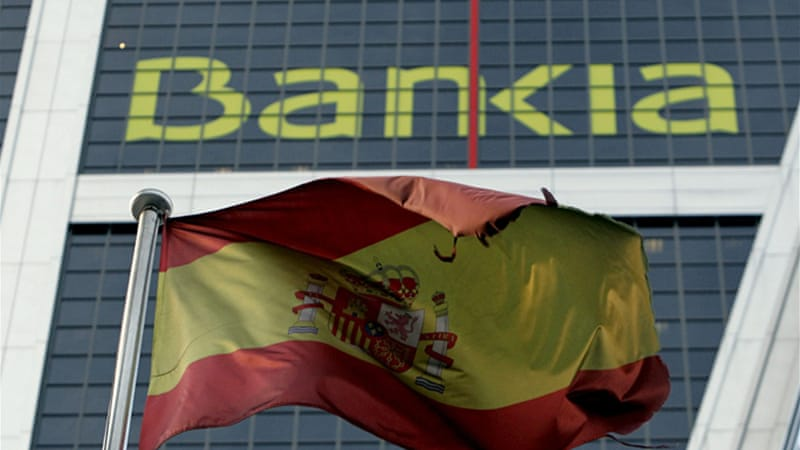 Consultants last week said the stricken Spanish banks could need up to 62bn euros to survive the financial slump [EPA]