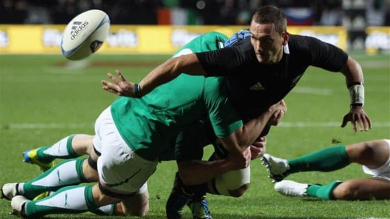 All Black Aaron Cruden impressed on his debut and helped to open up a huge lead early on [Getty Images]